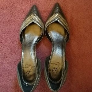 Beautiful metallic d'orsay-style heels.